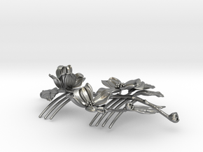 Dogwood Comb in Natural Silver