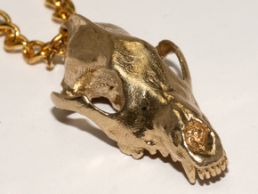 Wolf  (Canis Lupus) in Natural Brass