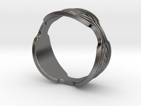 Black panther Ring replica in Polished Nickel Steel: 8.5 / 58