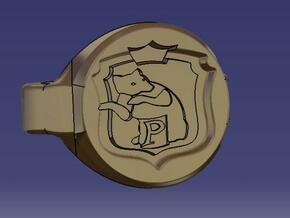 sceau poufsouffle in Polished Gold Steel