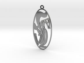 Personalised Art Deco Earring (001) in Fine Detail Polished Silver