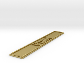 Nameplate Piaui in Natural Brass