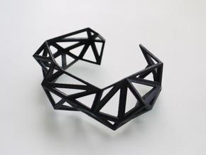 TRIANGULATED CUFF     in Black Natural Versatile Plastic: Small