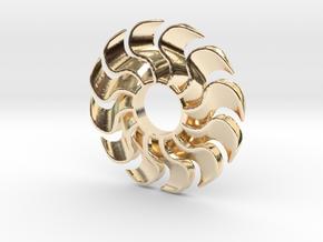 Fidget Turbofan in 14k Gold Plated Brass