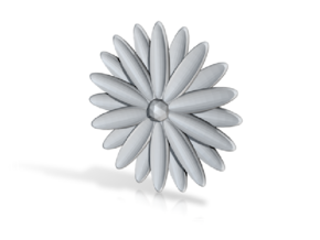 Hole Plug 0004 - flower in White Natural Versatile Plastic