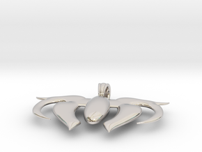 Heart Scale  in Rhodium Plated Brass