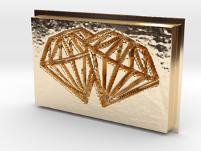 Double Diamonds Pendant in 14K Yellow Gold