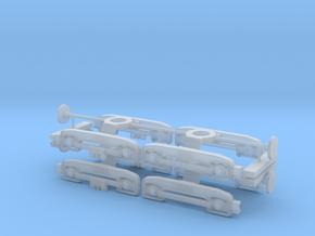 4x-F/D-Bogie-2mm adjustment Ho Scale in Smooth Fine Detail Plastic