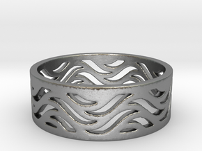 Waves of Love  in Natural Silver