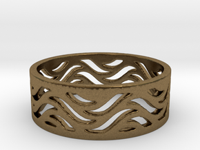 Waves of Love  in Natural Bronze