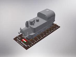 1/72nd scale Armoured Steam Locomotive in Smooth Fine Detail Plastic