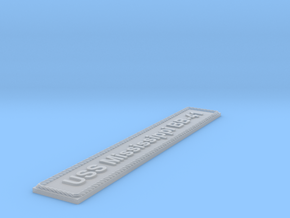 Nameplate USS Mississippi BB-41 in Smoothest Fine Detail Plastic