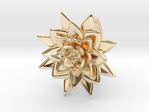 Succulent Blossom in 14K Yellow Gold