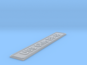 Nameplate USS Ohio BB-68 in Smoothest Fine Detail Plastic