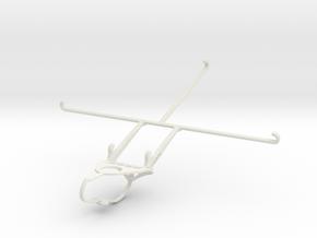 Controller mount for Nimbus & Apple iPad Air 2 - F in White Natural Versatile Plastic