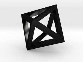 Octahedron mesh pendant in Matte Black Steel