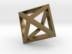 Octahedron mesh pendant in Natural Bronze