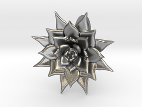 Pointed Succulent  in Natural Silver