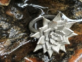 Pointed Succulent  in Polished Nickel Steel