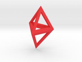 Double Tetrahedron pendant in Red Processed Versatile Plastic