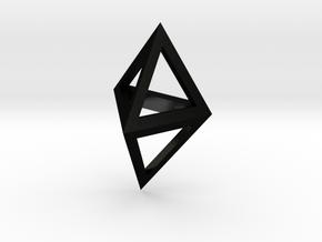 Double Tetrahedron pendant in Matte Black Steel