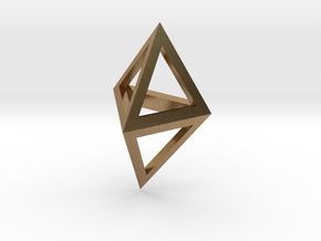 Double Tetrahedron pendant in Natural Brass