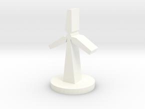 Custom Order, Wind Turbine, 35mm in White Processed Versatile Plastic
