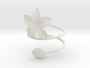 Bracelet Flower in White Natural Versatile Plastic