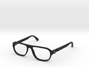 VirtualTryOn.fr Lunettes / Glasses : Steve in Black Natural Versatile Plastic