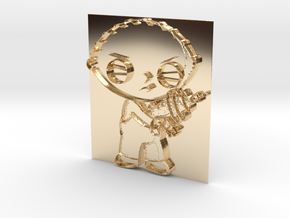 Stewie Griffin Pendant in 14K Yellow Gold