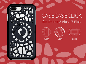 for iPhone 8Plus - 7Plus : geo : CASECASE CLICK in Black Strong & Flexible