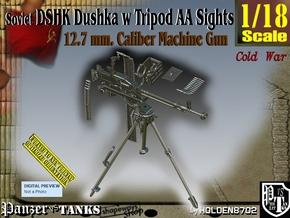 1/18 DSHK Dushka w-Tripod AA Sights  in Smooth Fine Detail Plastic