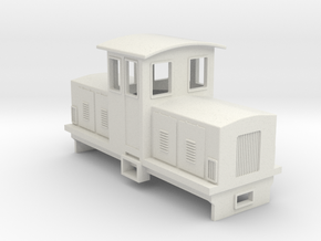 009 Electric Centrecab Locomotive (009 Jennifer 2) in White Natural Versatile Plastic