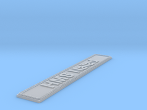Nameplate HMS Naiad in Smoothest Fine Detail Plastic
