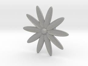Hole Plug 0003 - flower in Aluminum