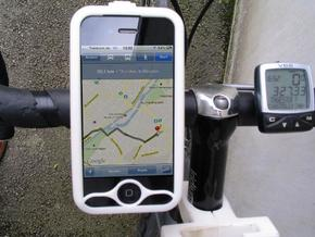 "iPhone 4 bike mount assembly 1 1/4"" in White Natural Versatile Plastic"