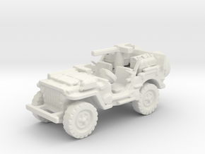 1/72 jeep SAS LRDG WW2 1 in White Natural Versatile Plastic