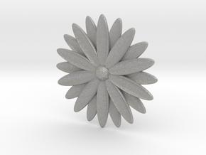 Hole Plug 0004 - flower in Aluminum