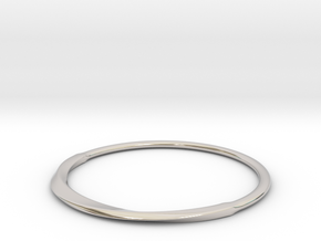FlatMobius032 bracelet in Rhodium Plated Brass