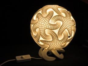 Starfish lamp in White Natural Versatile Plastic