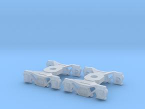 2PK N Scale K4 Tender Truck for Minitrix W/KD Etch in Smoothest Fine Detail Plastic