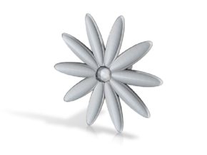 Hole Plug 0003 - flower in White Natural Versatile Plastic
