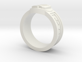 Ring of Kinship in White Natural Versatile Plastic: 9 / 59