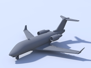 1:200 - Bombardier Challenger 604 in Smooth Fine Detail Plastic