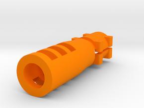 """Sniper Flash Hider for 1"""" Barrel in Orange Processed Versatile Plastic"""