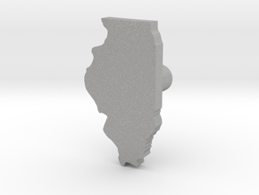 Hole Plug 0006 - Illinois in Aluminum