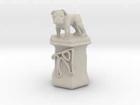 Personalised Hwa Bun Hexagonal Pot + Bulldog in Natural Sandstone