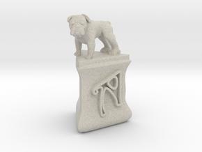 Personalised Hwa Bun Triangular Pot + Bulldog in Natural Sandstone