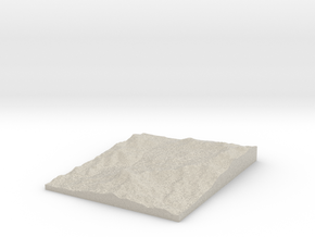 Model of Cerro Cuisaltepe in Natural Sandstone