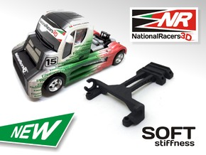 3D Upgrade - Fly Buggyra Front Axel - SOFT in Black Strong & Flexible